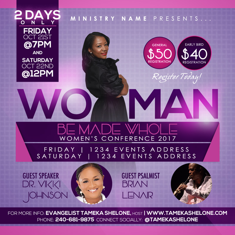 Women\'s Conference Flyer Design – Raiona Denise | Bringing Vision to ...