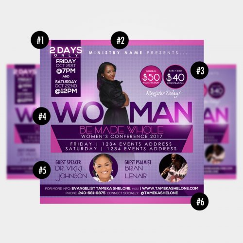 women u2019s conference flyer design  u2013 raiona denise